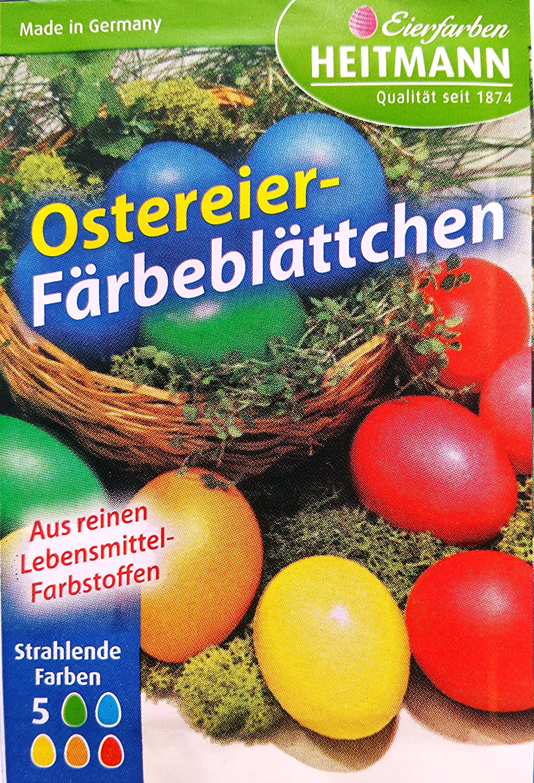 Heitmann Ostereier Färbeblättchen 5 Farben: Amazon.de: Küche & Haushalt