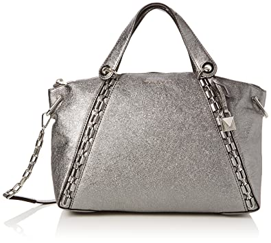 92d14b77d0ab Amazon.com: Michael Kors Womens Sadie Satchel Grey (Light Pewter): Shoes