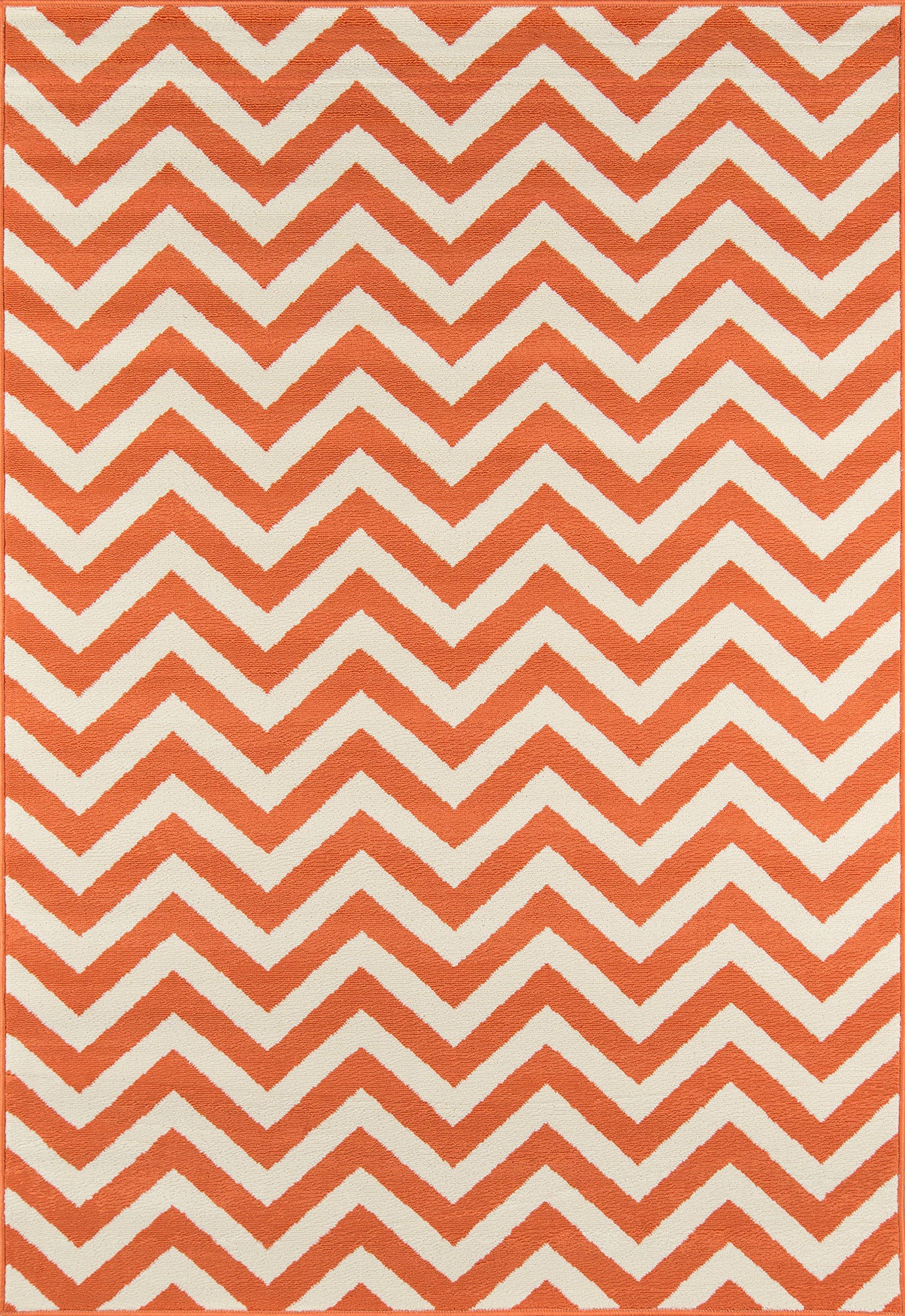 Nolita Rugs Nicky Polypropylene Orange Indoor/Outdoor Rug 7'10'' X 10'10''