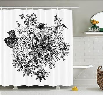 Amazoncom House Decor Shower Curtain Set By Ambesonne Vintage