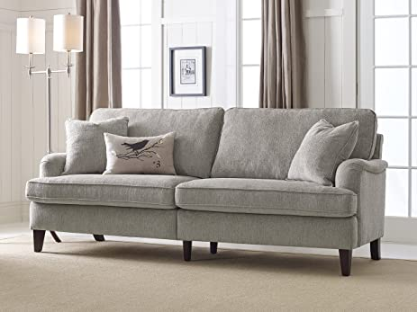 Serta Carlisle 78u0026quot; Sofa With Pleated Arms In Cozy Beige