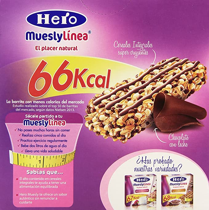 Hero muesly linea chocolate 6x20g - [pack de 5]: Amazon.es: Alimentación y bebidas