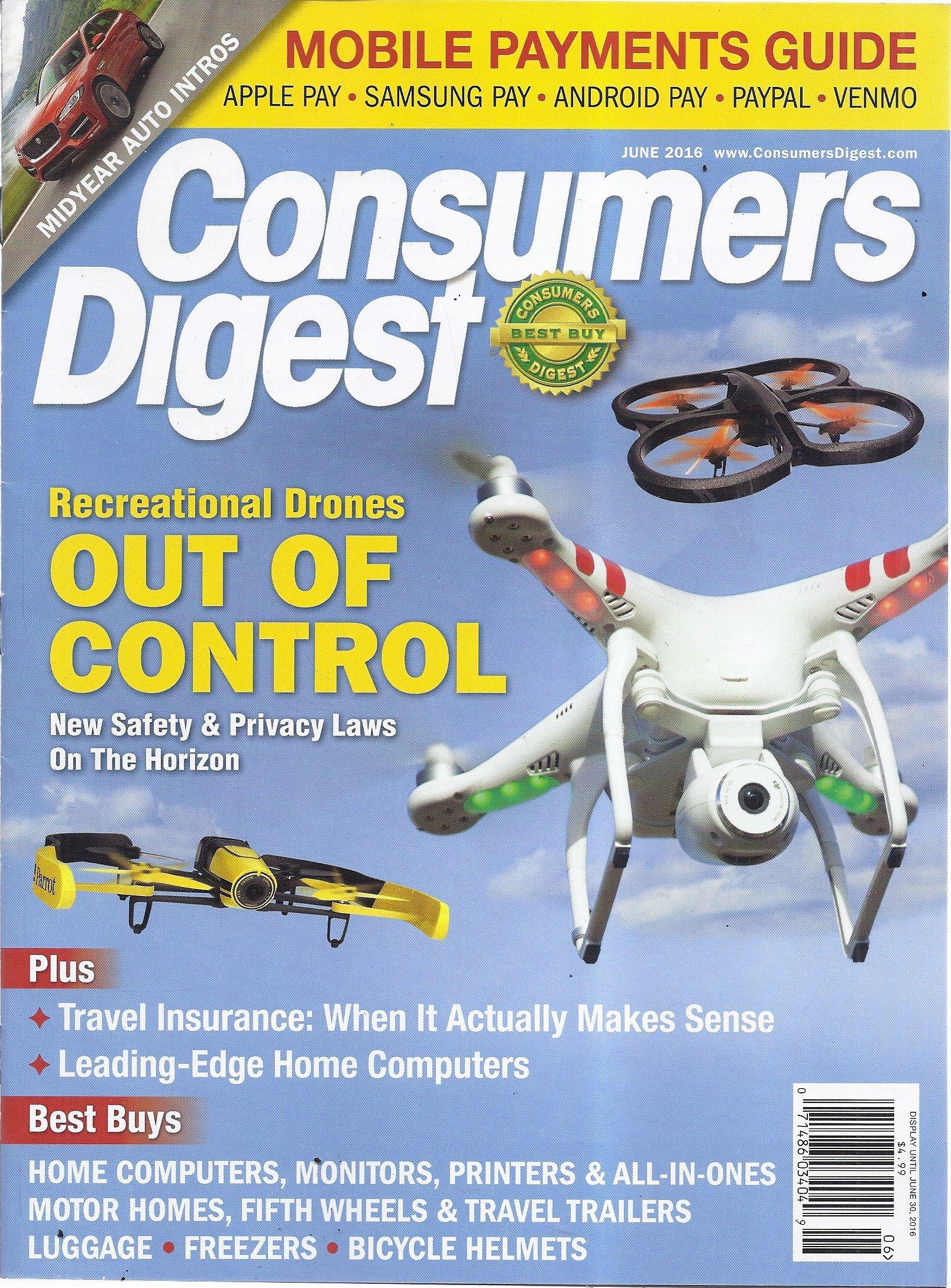 Consumers Digest (June 2016 - Recreational Drones) Text fb2 ebook