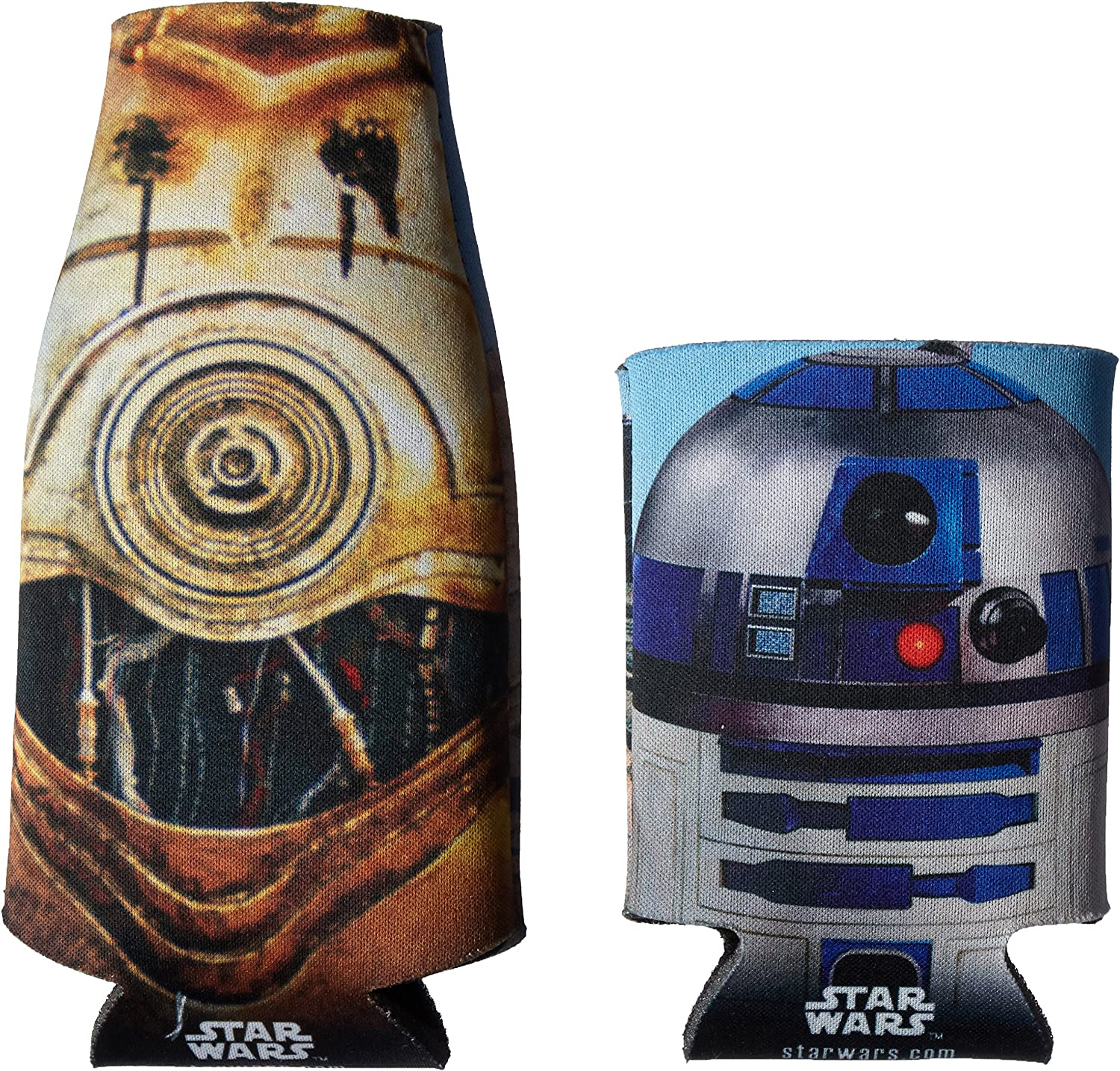 ICUP Star Wars Droids Bottle and Can 2 Pack , Clear