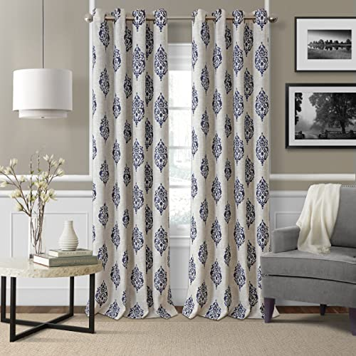 Elrene Home Fashions Navara Medallion Room Darkening Window Curtain Panel