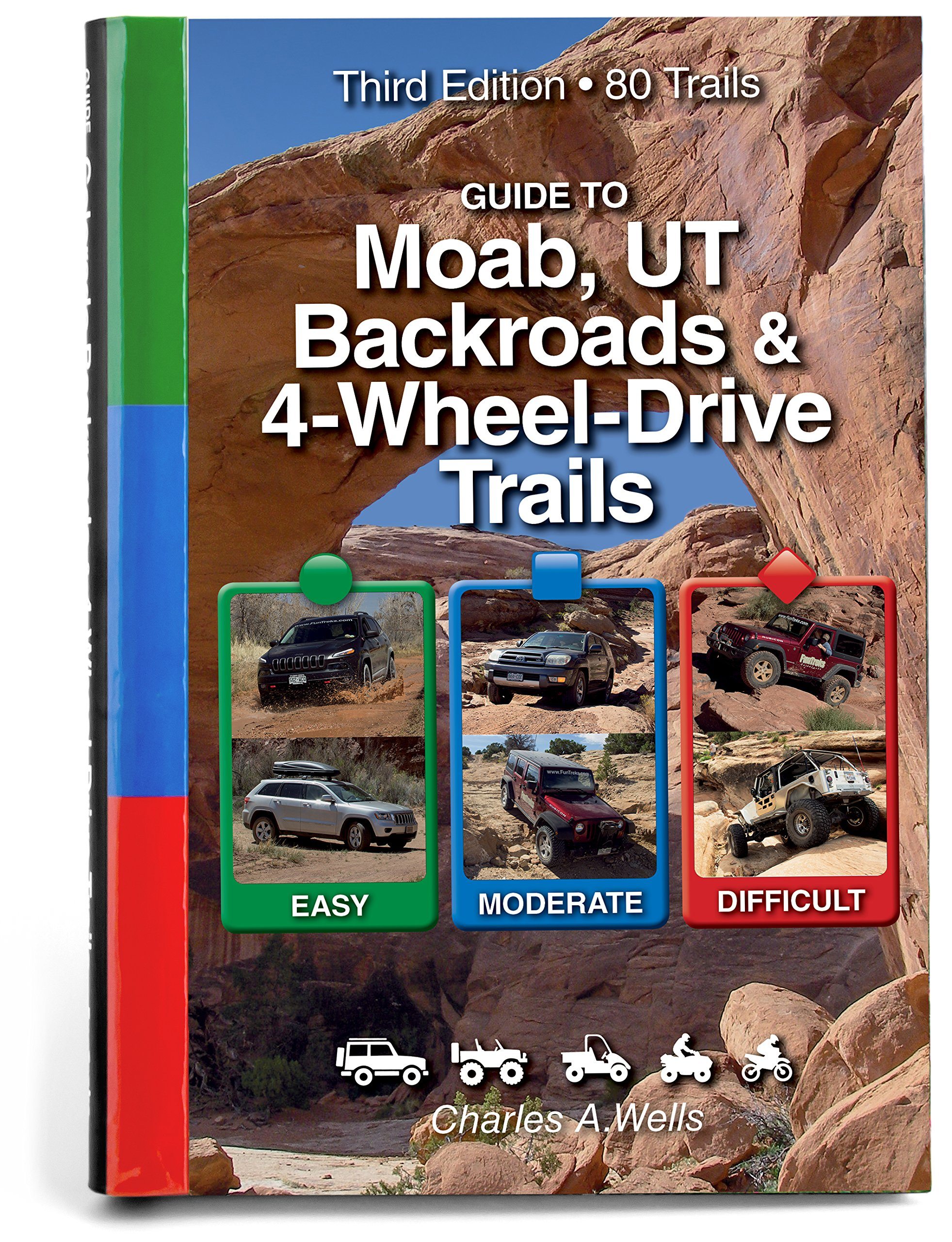 Guide to Moab, UT Backroads & 4-Wheel-Drive Trails 3rd Edition by Funtreks Inc