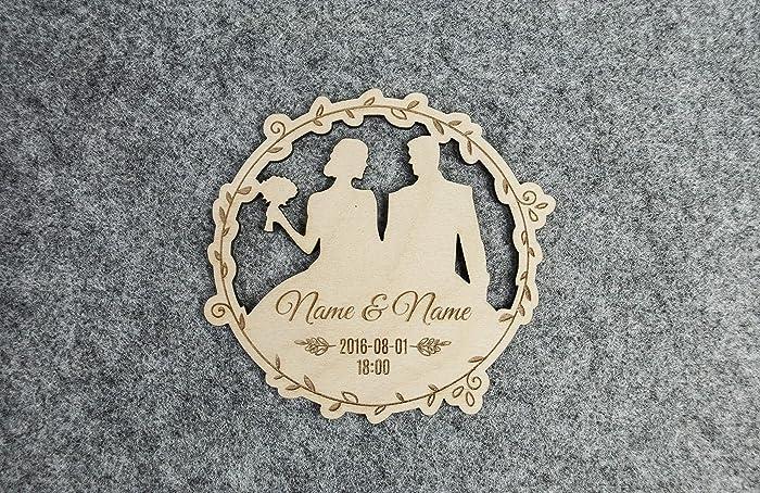 amazon com wedding invitations 20pcs 3 3x3 3 inches wooden