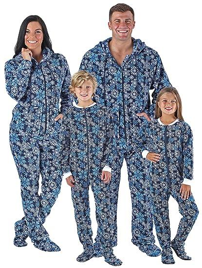 Amazon.com  SleepytimePjs Family Matching Navy Snowflake Onesie PJs Footed  Pajamas  Clothing bff7856f6