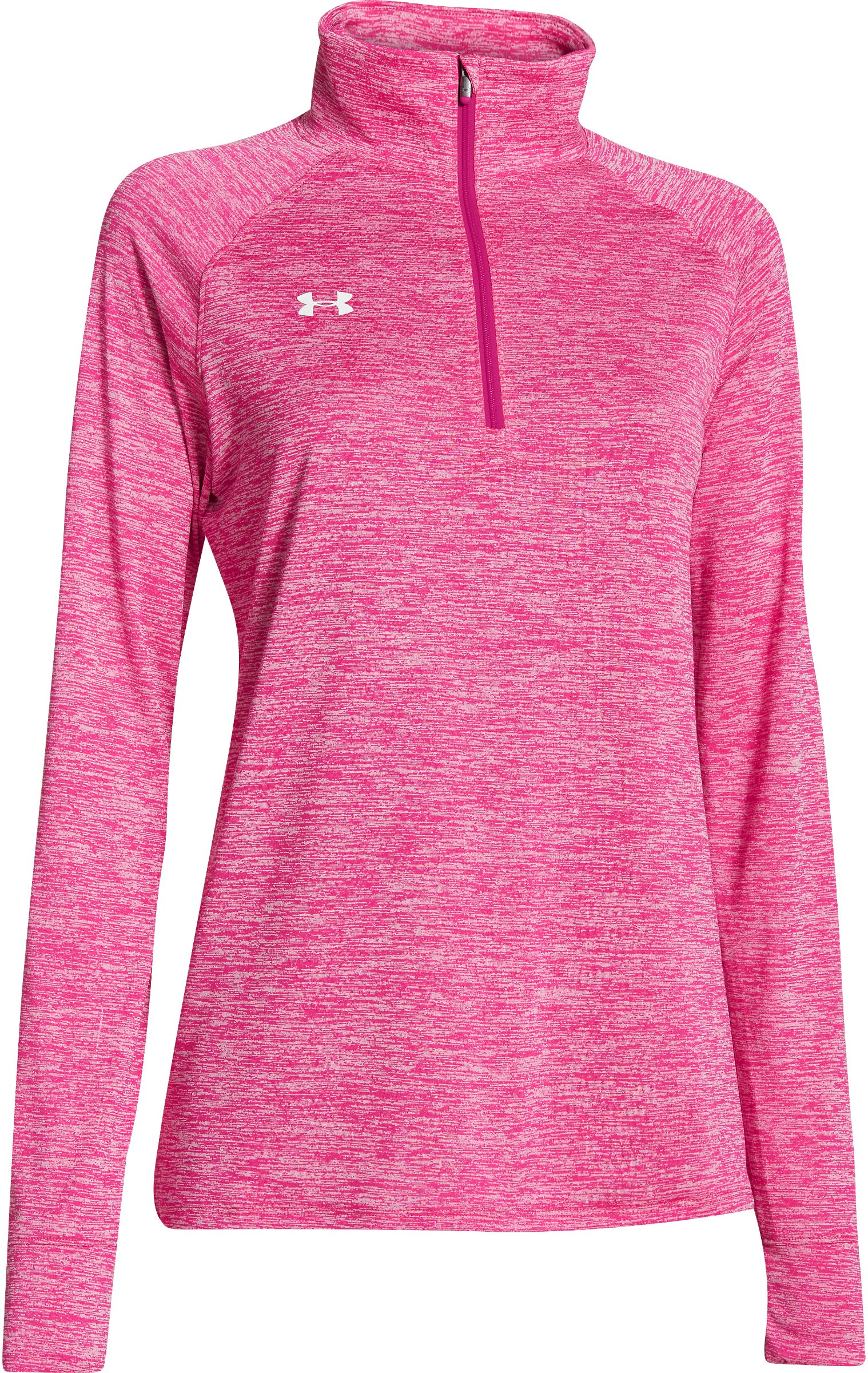 Under Armour UA Sideline Twisted Tech 1/4 Zip, Tropic Pink, Small
