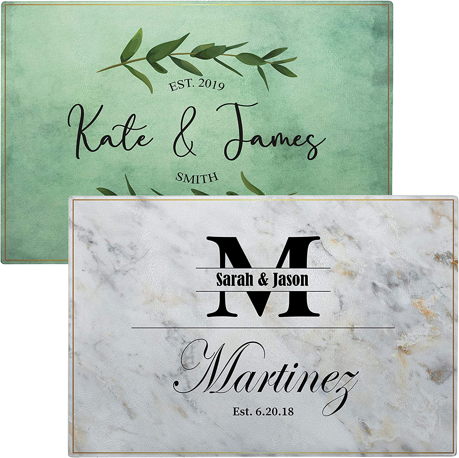 Personalized Glass Cutting Board Tempered Glass Cutting Board 12 Designs 11x8 Housewarming Gifts Personalized Wedding Gifts For Couple Custom Cutting Boards For Kitchen Kitchen Sign Kitchen Dining