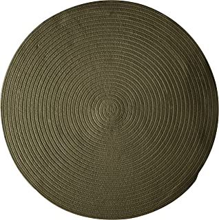 product image for Bristol Polypropylene Braided Round Rug, 4-Feet, Olive