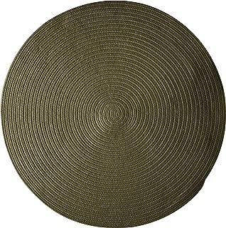 product image for Bristol Polypropylene Braided Round Rug, 4-Feet, Olive