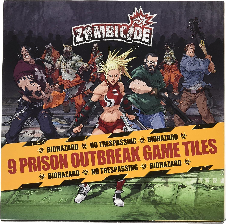 Zombicide: 9 Prison Outbreak Game Tiles - Juego de Mesa (CoolMiniOrNotInc. GUG0021): Amazon.es: Juguetes y juegos