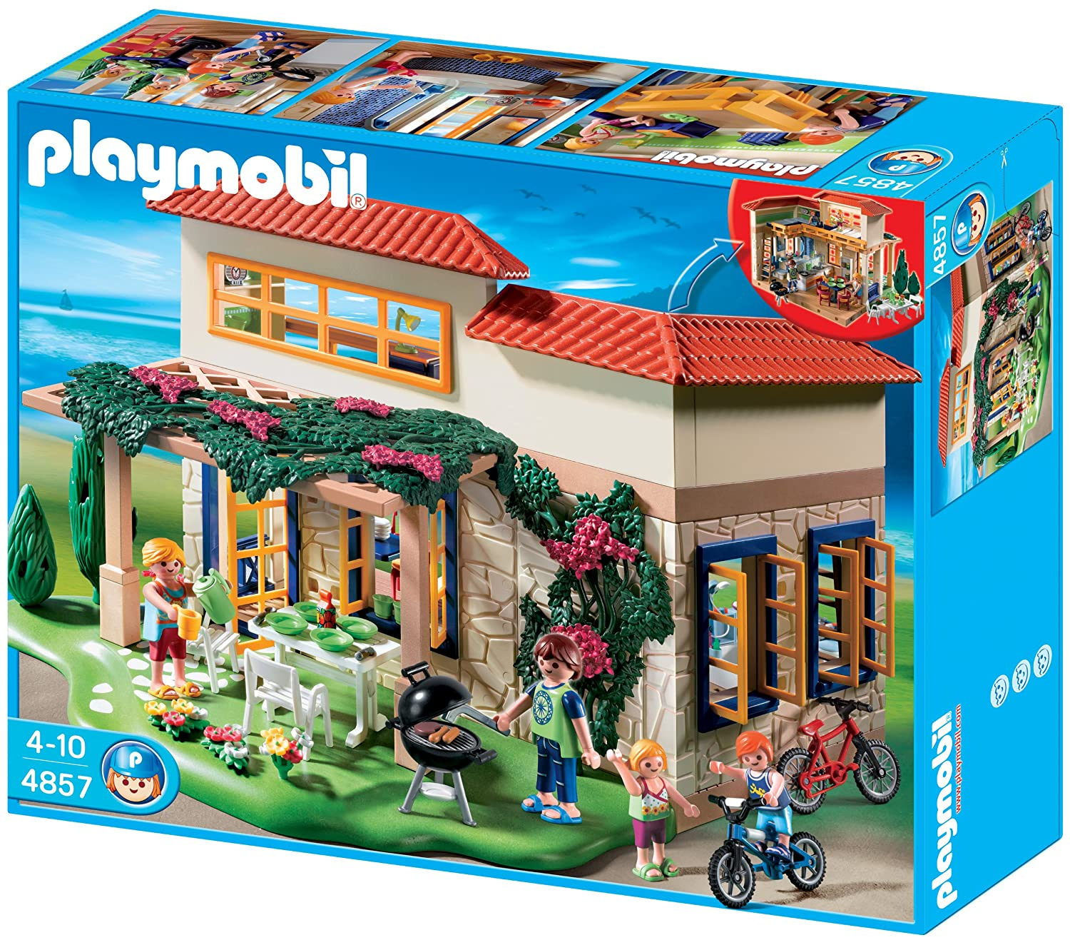 Amazon Com Playmobil Summer House Toys Games