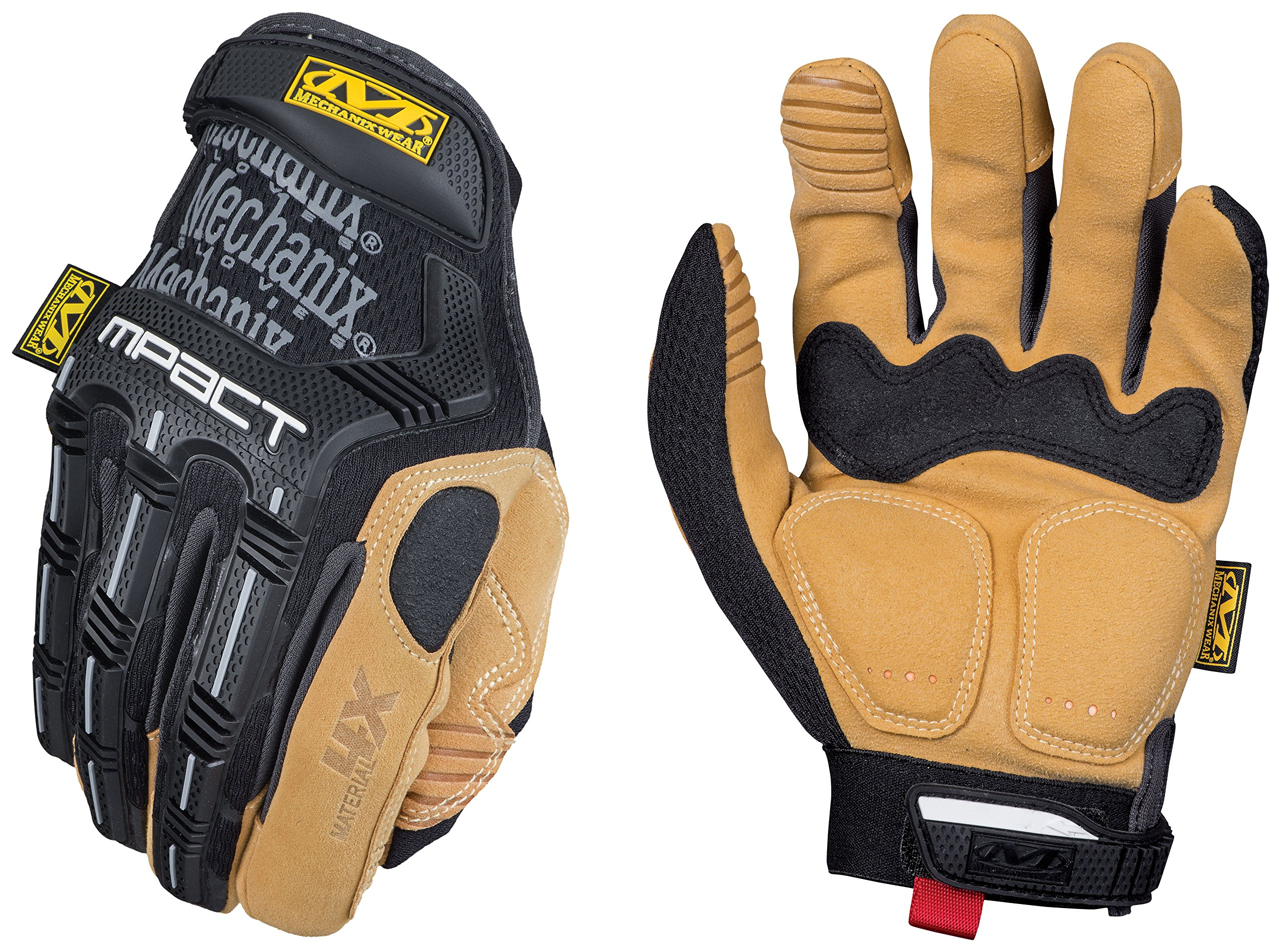 Mechanix Wear - Material4X M-Pact Work Gloves (Large, Brown/Black) by Mechanix Wear