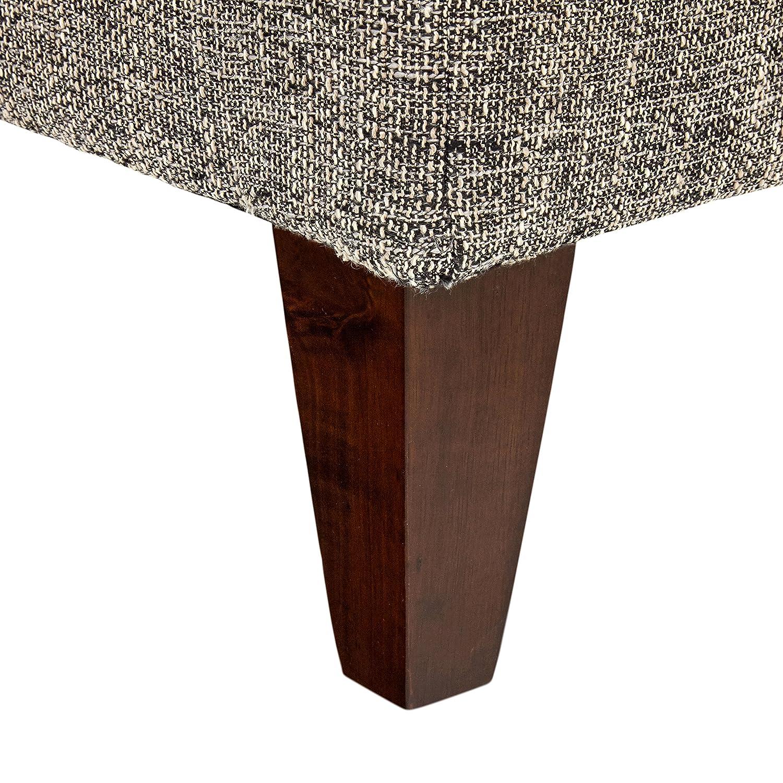Amazon.com: Rivet - Otomano cuadrado tapizado de gran tamaño ...