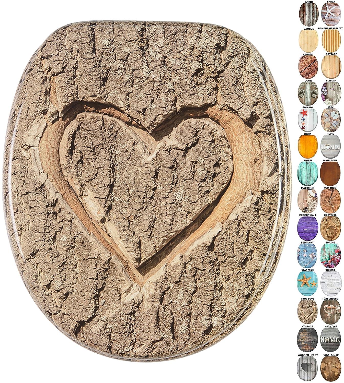 Holz Toilettendeckel verschiedene Muster