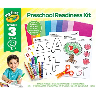 My First Crayola Preschool Workbook and Toddler Art Supplies, Letters and Numbers, Preschool Learning Toys: Toys & Games
