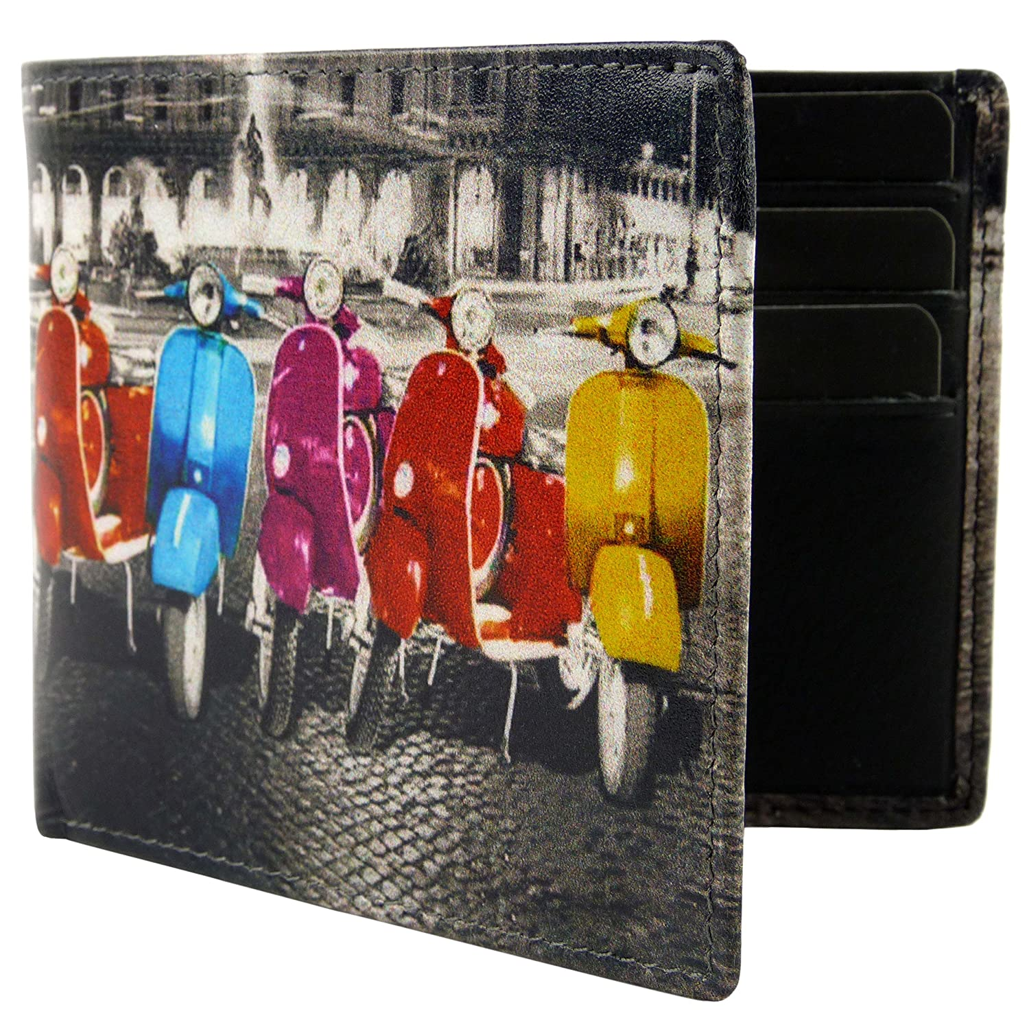 Golunski New Scooter,Quality Leather Retro MOD SCOOTER Wallet.