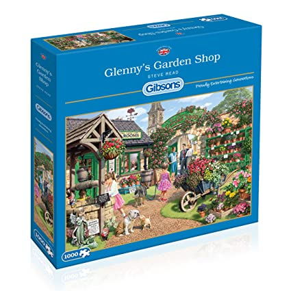fb0b6eb3012e Image Unavailable. Image not available for. Color: Gibsons Glenny's Garden  Shop Jigsaw 1000 Pieces Puzzle