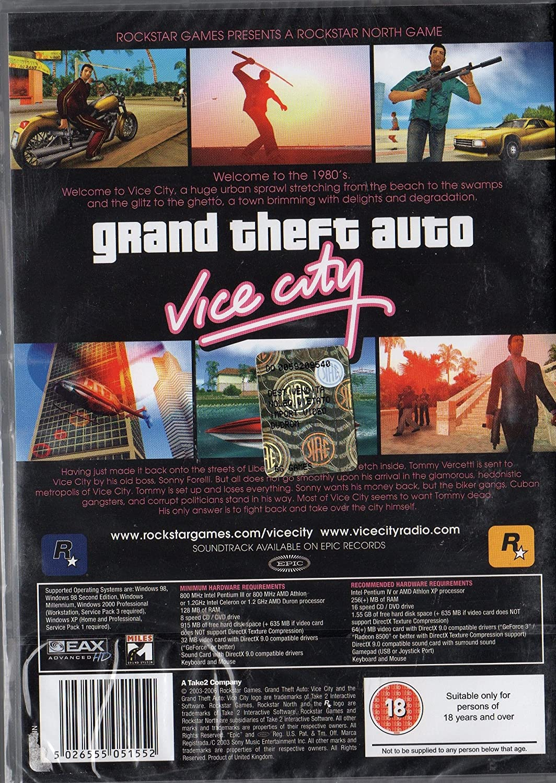 Grand Theft Auto: Vice City (pc): Grand Theft Auto  Vice City:  Amazon: Pc & Video Games