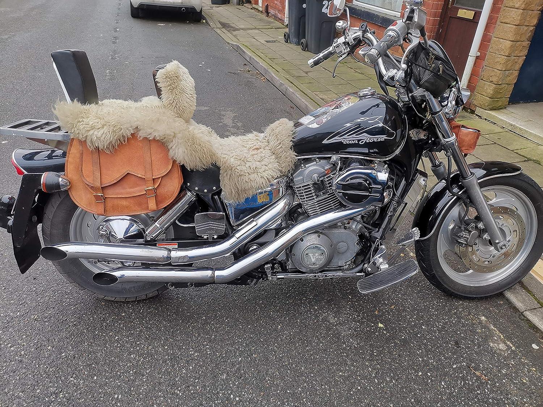 Ganpati Handicraft 2 X Motorrad Seitentasche Braun Große Leder Seitentasche Satteltaschen 2 Taschen 30 5 X 38 1 X 15 2 Cm Auto