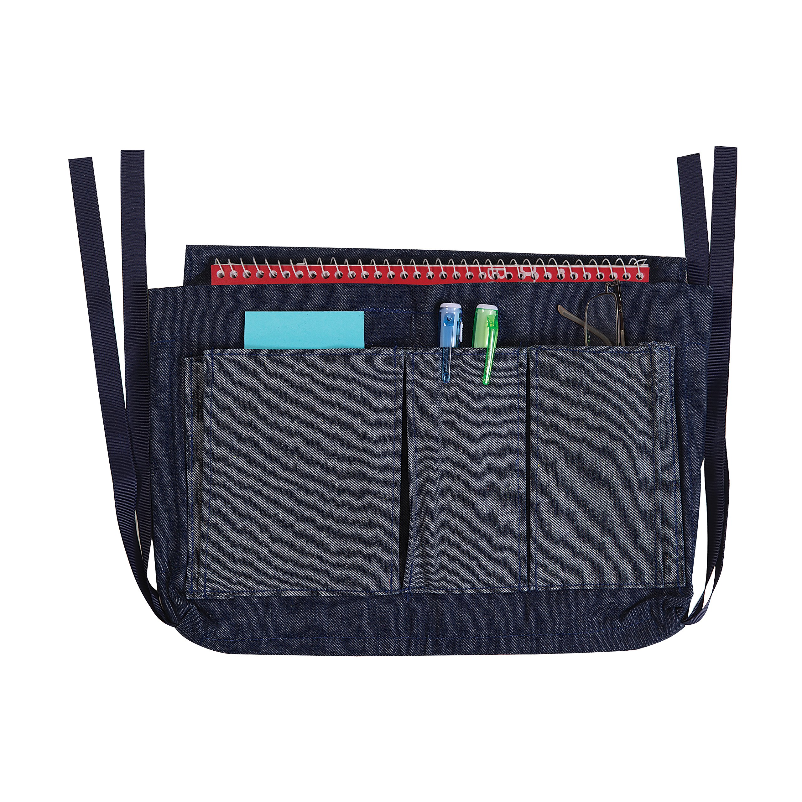 Duro-Med Walker Bag Attaches and Detached Easily, Plenty of Storage and Durable, Multi-Pocket Walker Accessories Bag, Blue Denim, 9.5 x 13 Inches