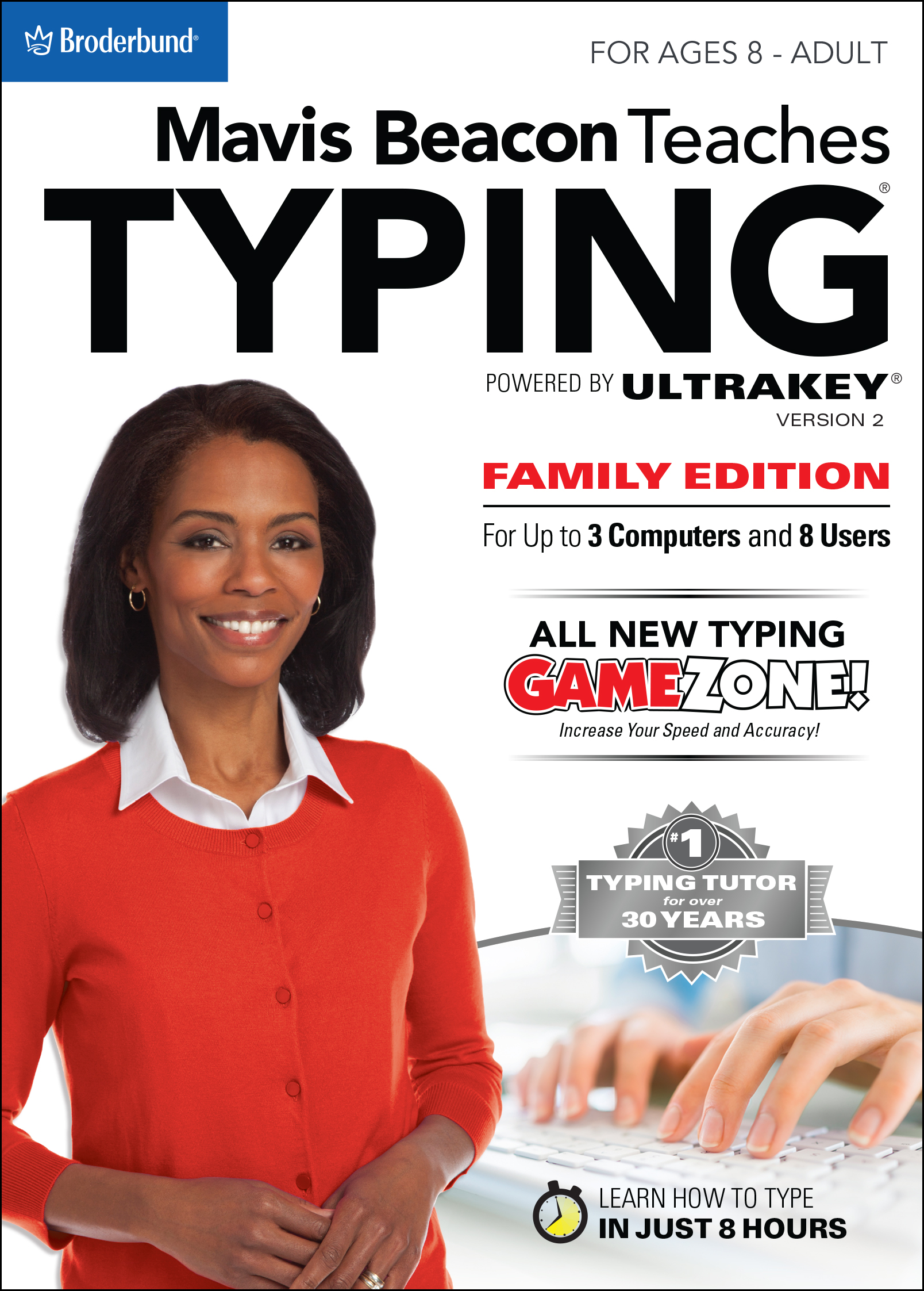 Software : Mavis Beacon Teaches Typing Powered by Ultrakey v2 - Family Edition [Download]