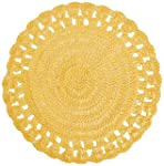 Lugar Americano Crochê Mimo Style Amarelo