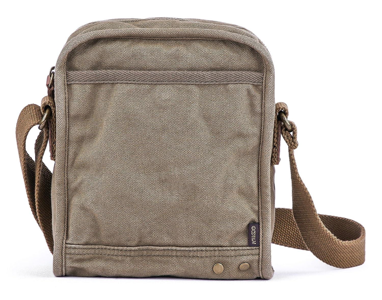 c2d3903c8 Amazon.com | Gootium Small Canvas Cross Body Messenger Bag, Army Green |  Messenger Bags