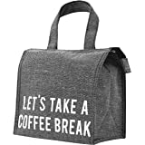 PuTwo Lunch Bag Insulated Lunch Bag with Zipper Cooler Bag Lunch Containers Lunch Tote Lunch Cooler Lunch Bags for Women Lunch Bags Lunch Bag for Men Kids Lunch Bag Lunch Bag for Women - Tweed Grey