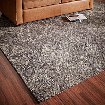 Amazon Com Rivet Motion Modern Patterned Wool Area Rug 8 X 10