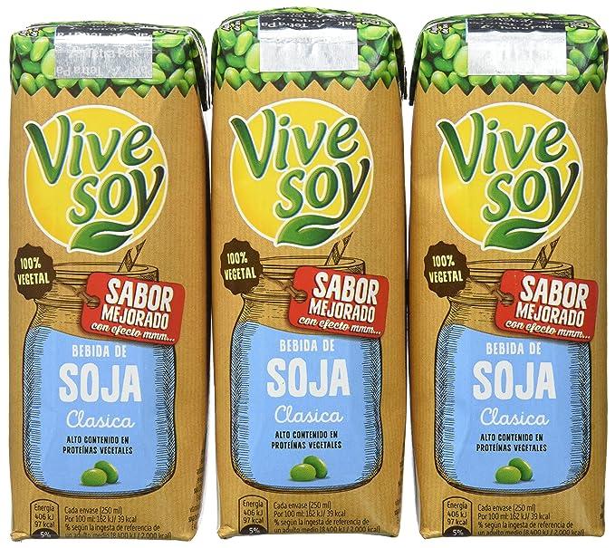 Vivesoy Soja Natural - 7 Paquetes de 3 x 250 - Total: 5.25 l