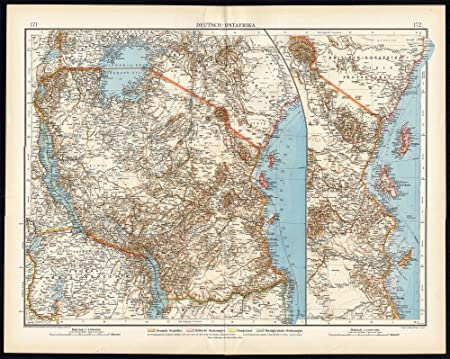 Antique map german east africa colonies zanzibar tanzania rwanda 171 antique map german east africa colonies zanzibar tanzania rwanda 171 gumiabroncs Image collections