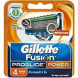 Gillette Fusion Proglide Power Men'S Razor Blades Refill Cartridges (Pack Of 4)