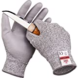 SafeAt Safety Flex Coated Work Gloves – High Dexterity, Protective, Cut Resistant, Comfortable Firm Grip PU Palm. Women's Size Medium, Free eBook Included!