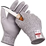 SAFEAT Safety Grip Work Gloves for Men and Women – Protective, Flexible, Cut Resistant, Comfortable PU Coated Palm…