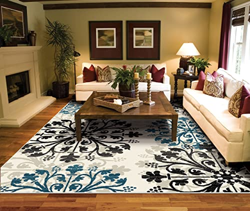 Large Rugs for Living Room 8×10 Ivory Area Rugs 8×11 Carpet