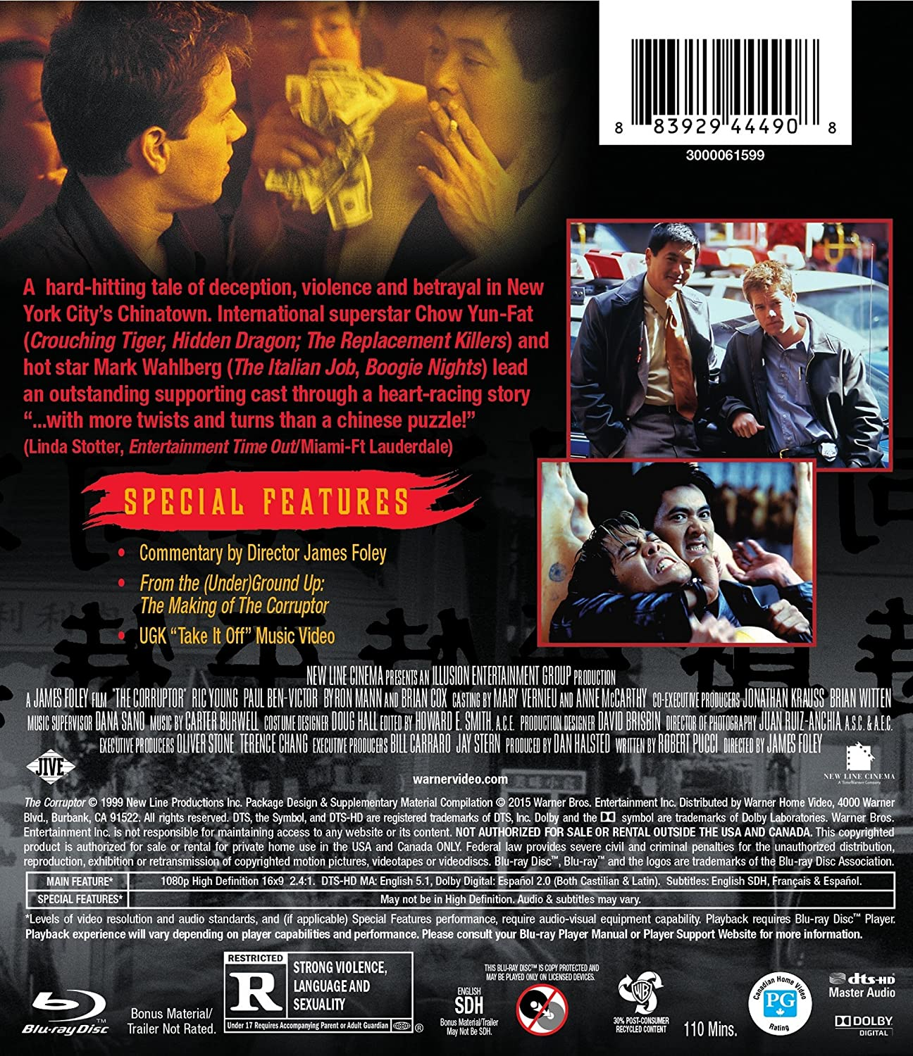 com corruptor the bd blu ray chow yun fat mark com corruptor the bd blu ray chow yun fat mark wahlberg ric young paul ben victor james foley oliver stone terence chang bill carraro