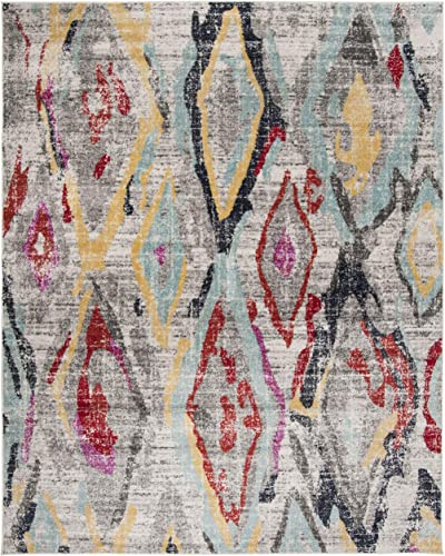 Safavieh Rug, 9 x 12 , Light Grey Red