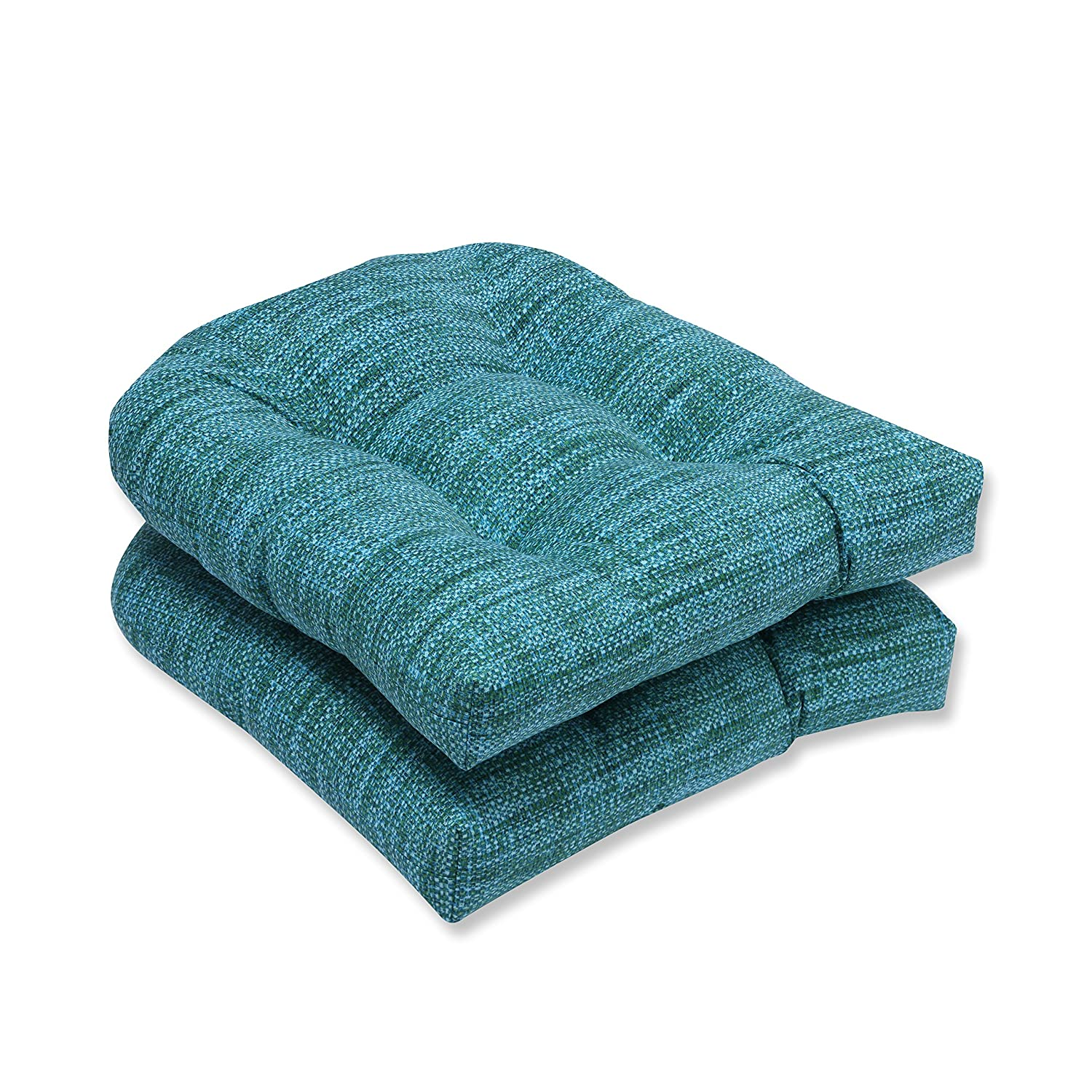 Pillow Perfect Outdoor Indoor Remi Lagoon Wicker Seat Cushion Set of 2