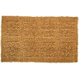J & M Home Fashions Plain Tile Loop Woven Coco Doormat, 18 by 30-Inch