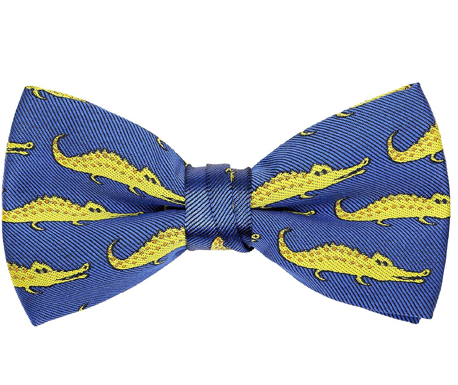 857d4316d317a This Pattern Bowtie Features Many Alligators on The Blue Background.  Perfect for Cartoon and Animals lovers. MATERIAL: Polyester Microfiber,  Handmade and ...
