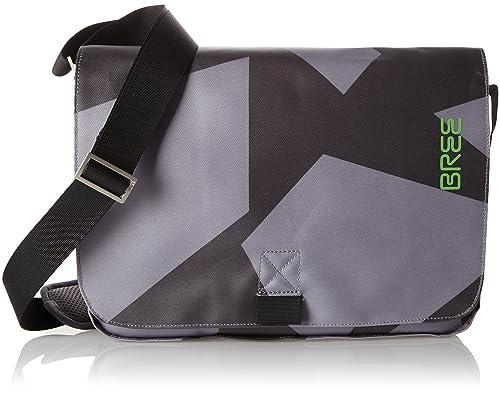 great deals usa cheap sale quality design BREE Herren Punch S17 Schultertasche, Grau (Black/Grey)_62 ...