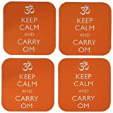 3dRose CST_159552_1 Keep Calm and Carry Om Yoga