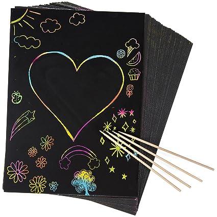 Rainbow Scratch Paper Www Picswe Com