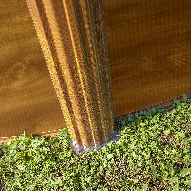 Gre KITPROV503W Sicilia - Piscina Elevada Ovalada, Aspecto Madera, 500 x 300 x 120 cm: Amazon.es: Jardín