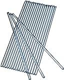 Glass Stirring Rod 250 mm (9.8 inch) Glass Stir Sticks Pack of 20 Stirrers