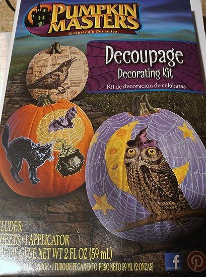 amazon com pumpkin masters decoupage decorating kit toys games