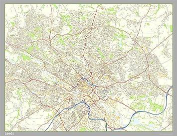 Leeds City Centre Map Size 160 x 160 cm APPROX Amazoncouk